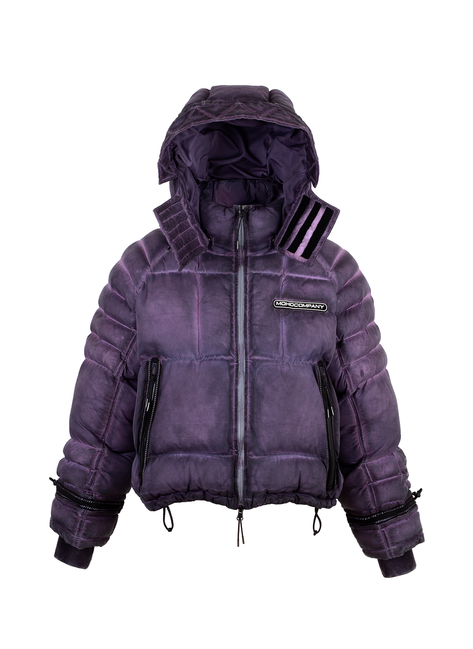 WASHED EFFECT SHORT DOWN JACKET