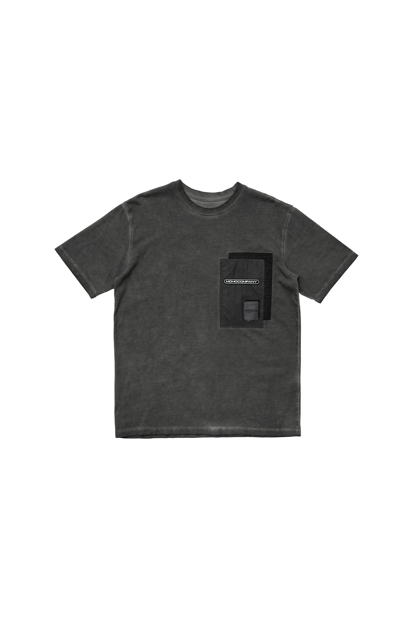 WASHED EFFECT T-SHIRT (CHARCOAL)