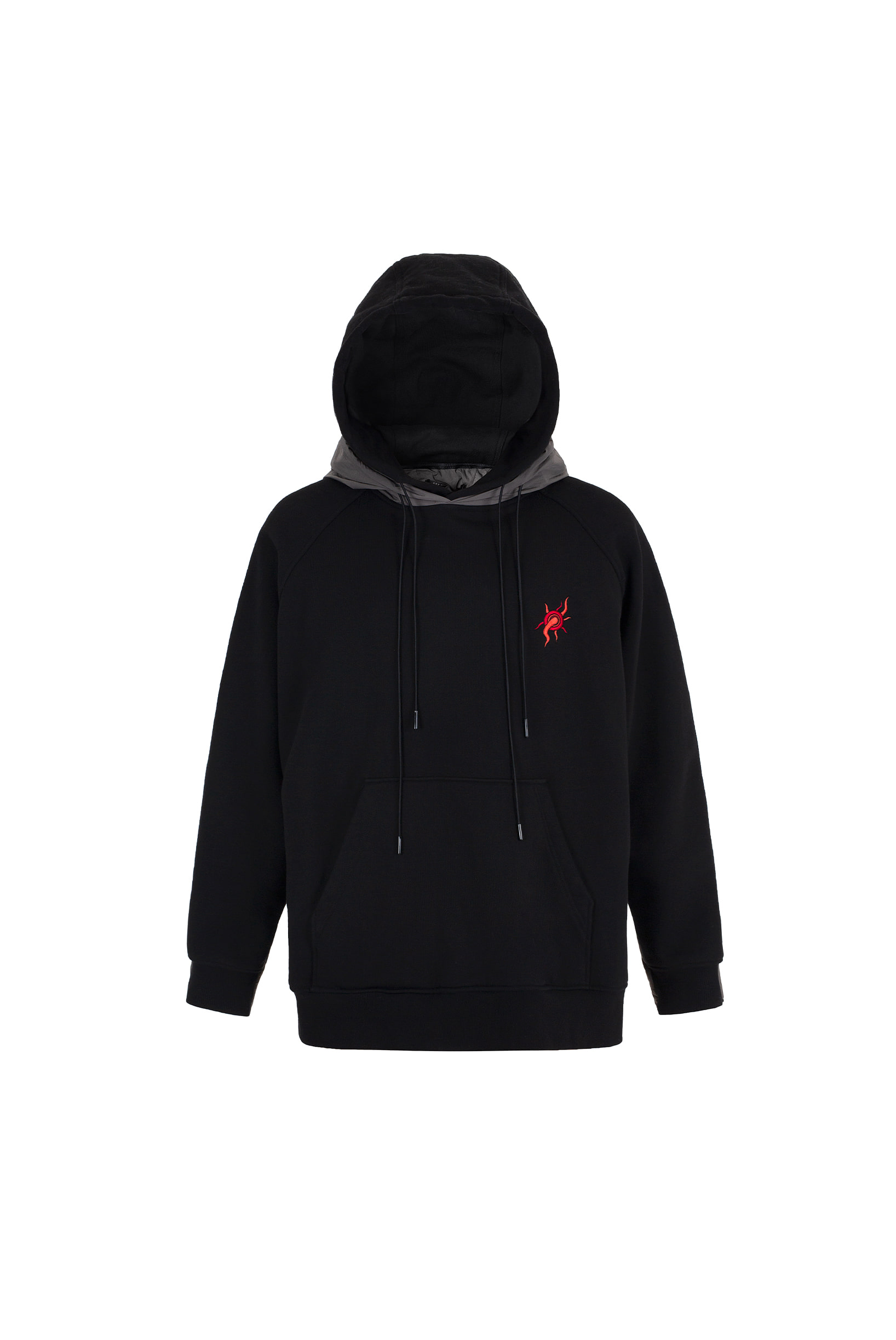 YEOUIJU DOUBLE QUILTED HOODIE (BLACK)