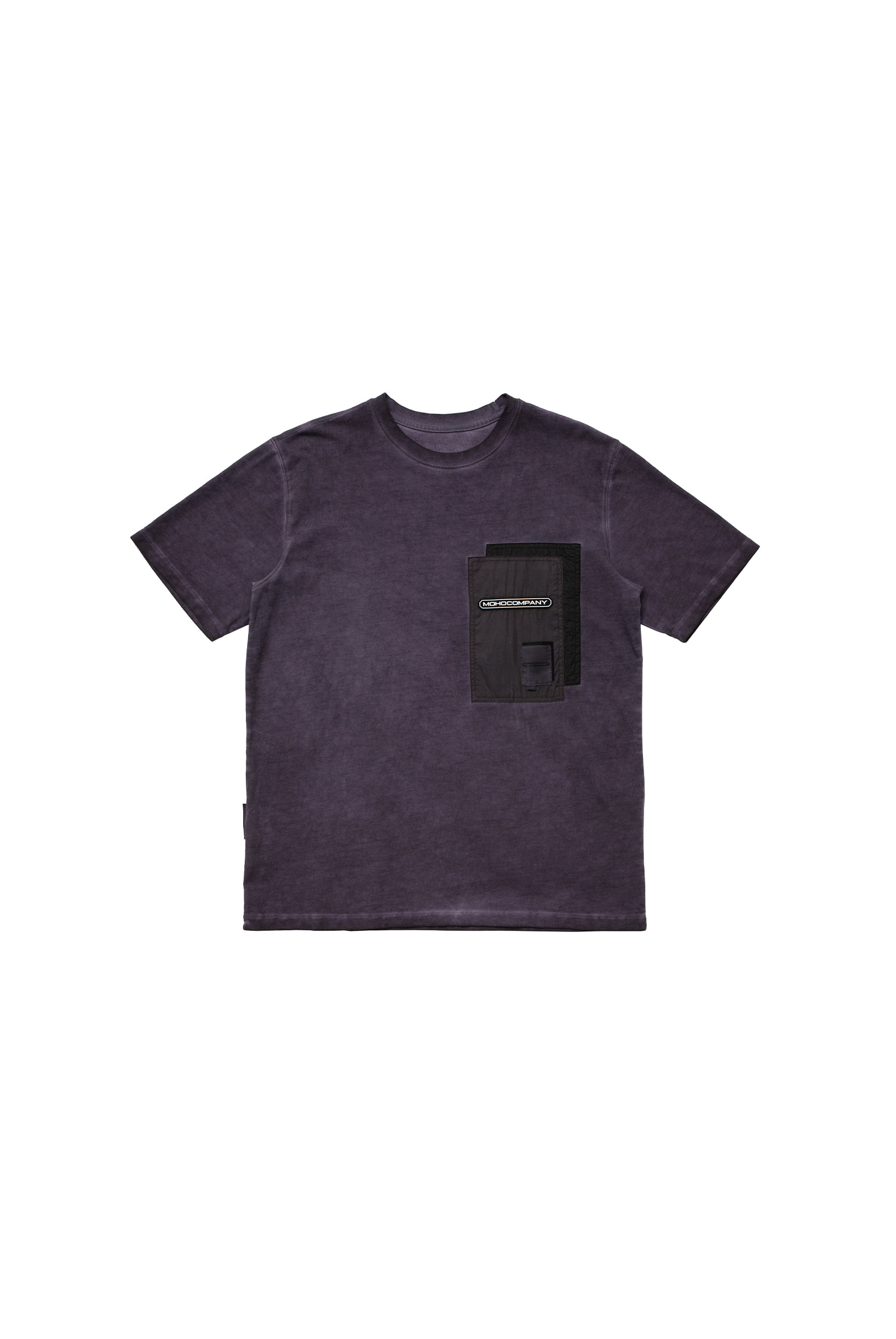 WASHED EFFECT T-SHIRT(PURPLE)